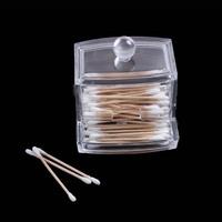 Fashion Design Cotton Swabs Stick Box Holder Storage Cosmetic Makeup Rack Case Hot Sale Free Shipping