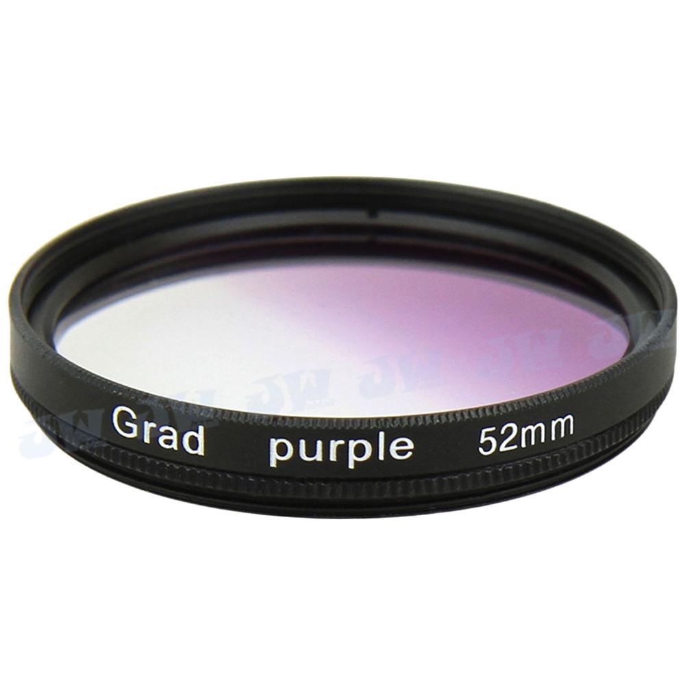 High Quality Purple Graduated Color Lens Filter for 52MM Nikon D7100 D7000 D3300 D5300 D5200 D5000 D3100 D80 D90 Lens NB GCF-52P(China (Mainland))