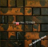 Natural wood parquet mosaic wall tiles NWMT125 rustic wooden mosaic TV background tile wood tiles backsplash
