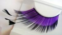 Hyperbole and a half purple half black feathers models Feather Lashes Eyelashes freeshipping