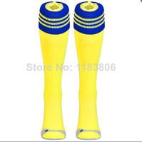 Thai quality original club socks Chelsea 14-15 away yellow soccer football sock