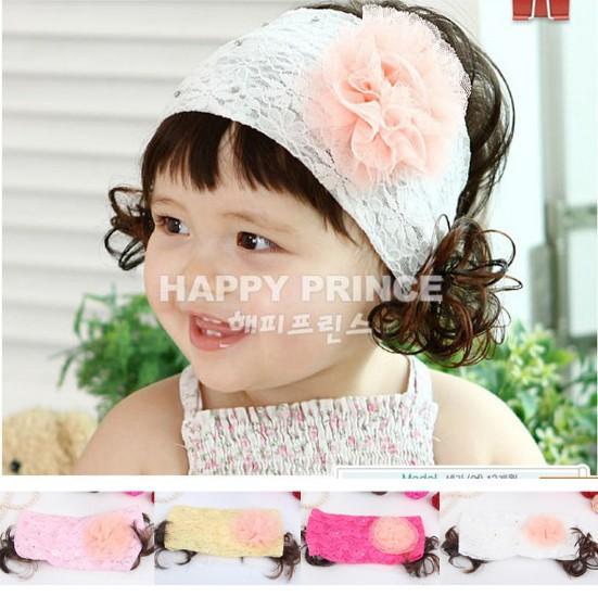 New Korean Style Children Hair Accessories Baby Headbands Flower Pearl Rhinestone Hair bands(China (Mainland))