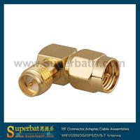 2 pcs RF adapter SMA Male Plug to RP SMA female Jack Right Angle adapter