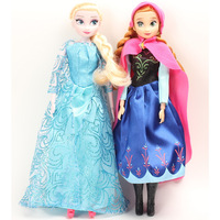 Hot Sell 2PCS/Lot Frozen Princess 11.5 Inch Frozen Doll cute Elsa Anna Good Girl Gifts Girl Doll Joint Moveable Classic toy