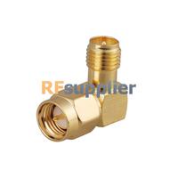 RF SMA adapter Right Angle SMA Male Plug to RP SMA female Jack adapter