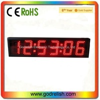 outdoor high quality 5 inch 7-segment 6 digit red large led countdown timer