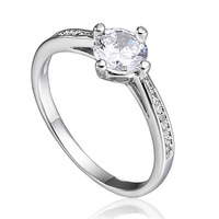 Free shipping Fashion Super Shine Zircon Crystal Platinum Plated Ladies Engagement Rings A0908