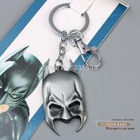 10pcs Free Shipping Super Hero Justice League Batman Mask Keychains Key Chain Metal Pendants Key Ring ANPD1202