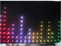 Free shipping factory price P18  1M*2M  LED video Curtain / LED DJ booth