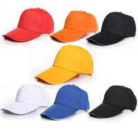 2014 Global Free Shipping / TOP SALE!! / Fashion Sun Hat Solid Color Baseball Cap Customize Working Cap Hat For Man Women
