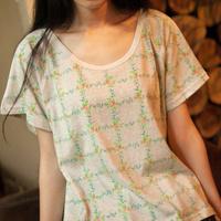 2014 summder little fresh green o-neck loose casual short-sleeve T-shirt female