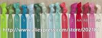 02# Optional colors 20pcs/lot Ribbon Elastics Hair Bands-Girls Hair Accessories Emi Jay Like Elastic Yoga Leopard Hair Ties