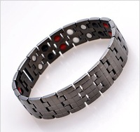 Titanium Bracelet with magnet stone or Germanium White Ion and FIR stone 4 in 1 far infrared pure titanium magnetic bracelet!