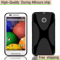 High Quality Soft TPU Gel X line Skin Cover Case For Motorola Moto E Free Shipping UPS DHL EMS CPAM HKPAM