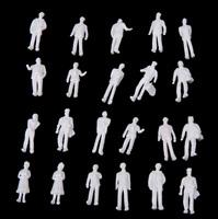 100pcs HO Scale 1:100 White Model People Unpainted Train Figures