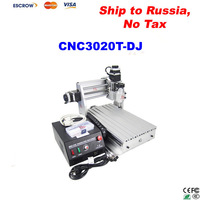 Free ship to Russia, no tax !! user-friendly 3 axis CNC Router 3020T-DJ, also have 3020Z-DQ CNC Milling Machine