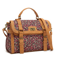 From Franch Brand! Sweet Cute Retro Style Floral Print Women Message bag