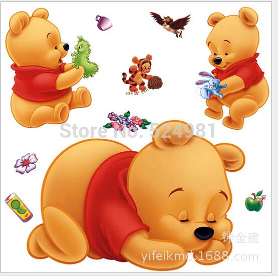 ... Gratis verzending winnie the pooh cartoon muurstickers slaapkamer muur