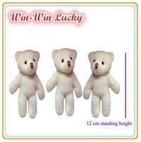 12CM (4.7 Inch) Plush Stuffed Teddy Bear Fashion Bear Plush Toys Cartoon Bouquet Doll 20pcs/lot Wholesale Price
