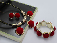 Wholesale fashion  multicolor african beads jewelry set  for women and girls
