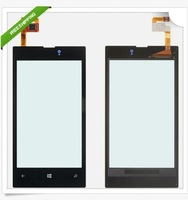 Free shipping Brand New Front LCD Lens Screen Digitizer Touch Glass For Nokia Lumia 520