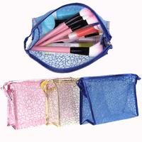 Women's Lady Makeup make up Hollow Organizer Cosmetic Bag Storage Travel Translucent Container Handbag