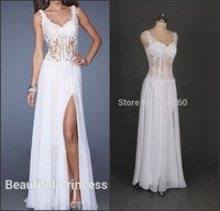 2014 open back side slit sexy vestidos de fiesta evening dress special prom dresses
