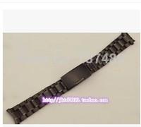 Watch accessories special solid strip steel strap Black Bracelet Mens 18/20/ 22MM