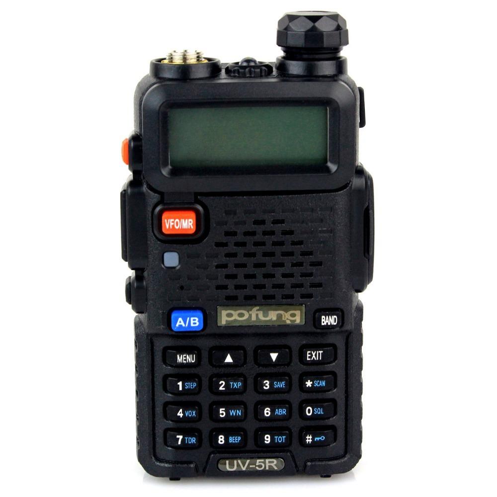 Pofung UV-5R Walkie Talkie 5W FM Radio 128CH VHF + UHF DTMF VOX Dual Band Dual Frequency Two Way Radio A7108A Free earphone(China (Mainland))