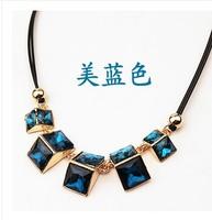 Min order is $10(mix order)Rhinestone Jewelry Fashion Women Geometric Statement Collar Necklaces & Pendants Choker Vintage