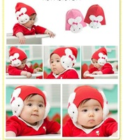 Free Shipping Winter the baby rabbit hat cap Children double rabbit ear hat cap winter warm for baby hats & caps