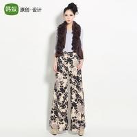 Myrmeco- 2014 autumn pants fashion casual loose trousers wide leg pants culottes