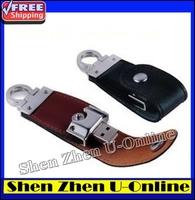 Fashion Leather 64GB/32GB /16GB/8GB/4GB USB Flash Drive Pen Drive Memory Stick Drives Disk Stick Key Chain Swivel ,Free shipping