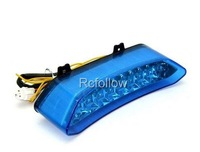 New Tail Light Chrome LED Turn Signal Blue For Yamaha 2002-2003 YZF R1 YZF-R1