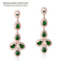 Neoglory  Rhinestone Zircon Exaggerated Long Dangle Earrings Jewelry Accessories For Women 2014 New