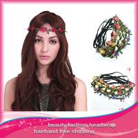 Free Shipping 5pcs/lot Bohemian Headband Garland Hair Band Headwear Hair Accessories for Women  Flower Headband