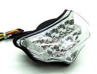 Turn Signal Clear For Yamaha 2004-2008 05 06 07 FZ6 FAZER Chrome LED Tail Light