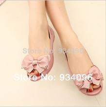 Plus size(36-43) women genuine leather flat shoes 2013 newest fashion female casual single shoes women flats fish head shoes(China (Mainland))