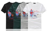 2014 summer new fashion trend vacation isle pattern t-shirt Men's round neck short sleeve t-shirt printing wholesale