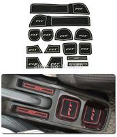 For Honda Fit car Gate slot pad / cup mat / non-slip pad silicone pad 14PCS