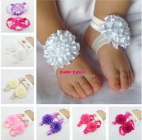 Newborn Bebe Infantil Toddler Children Baby Girls Kids Ruffle Flower Footwear Accessories Photography Props Christening Gift