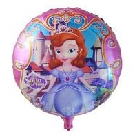 New!!! 18''10pcs/lot kid favorite princess sofia balloon girls princess sofia toys birthday party supplies sofia the first party