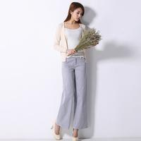Linen pants women's fluid casual pants female loose ankle length trousers linen pants female 2014 spring