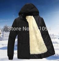 2014 new men down coat Men's coat Winter overcoat Outwear Winter jacket hooded thick fur down jacket outdoor