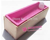 toast / handmade soap cake mold / 1 wooden box + 1silicone mold /set Combo 1.2kg  26*7*7.7cm