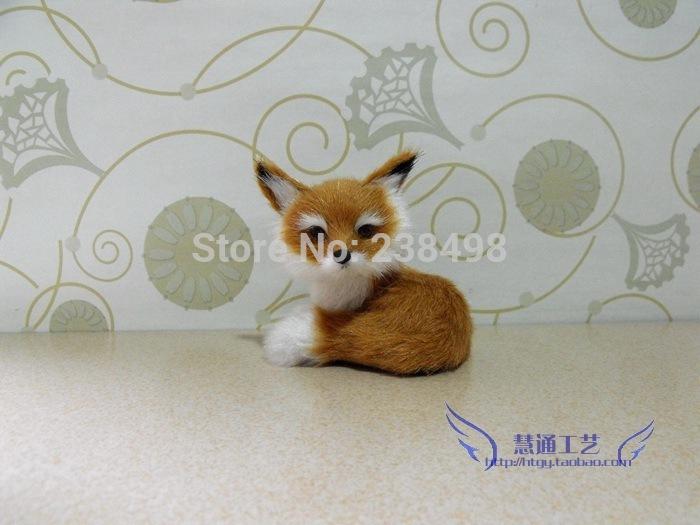 2014 FOXPets Toy/Advanced Simulation FOX Plush toys Pet simulation Companion fox Stuffed Animals [Free Shipping](China (Mainland))