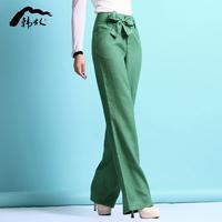 Wide leg pants linen pants trousers fashion summer women's 2014 trousers fluid casual pants female