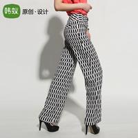 Myrmeco- 2013 autumn trousers pants wide leg pants casual pants fashion trousers 3d pants culottes