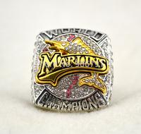 New arrival rhodium plated replica 2003 Florida Marlins baseball World Series Championship Rings