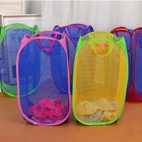 3371 Free shipping minimum order $10 (mixed items) collapsible nylon netting laundry basket clothes underwear storage basket
